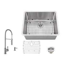 Superior Sinks Brushed Satin Single Basin Stainless Steel Undermount  Residential Bar Sink