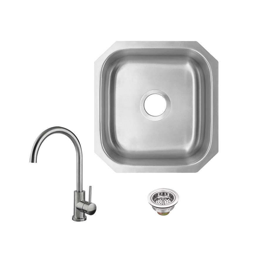 Superior Sinks Brushed Satin 1 Hole Stainless Steel Undermount Residential Bar Sink