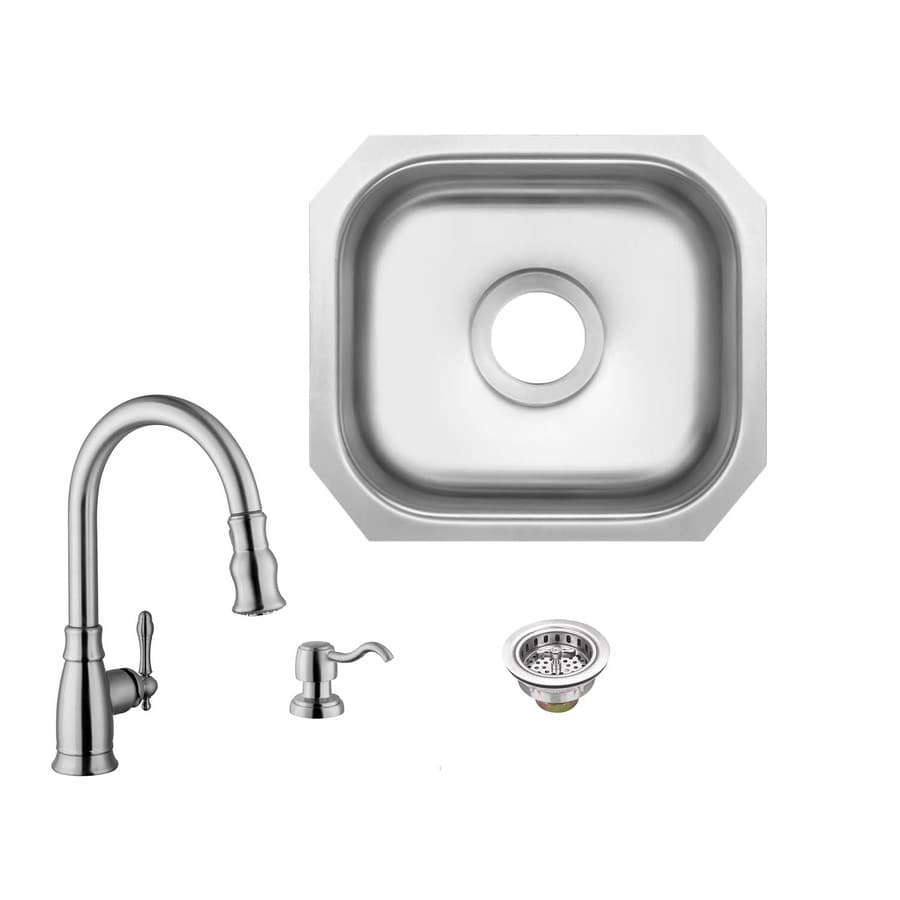 Superior Sinks 15 In L X 12 75 In W Brushed Satin Stainless Steel Undermount Residential Bar Sink In The Bar Prep Sinks Department At Lowes Com