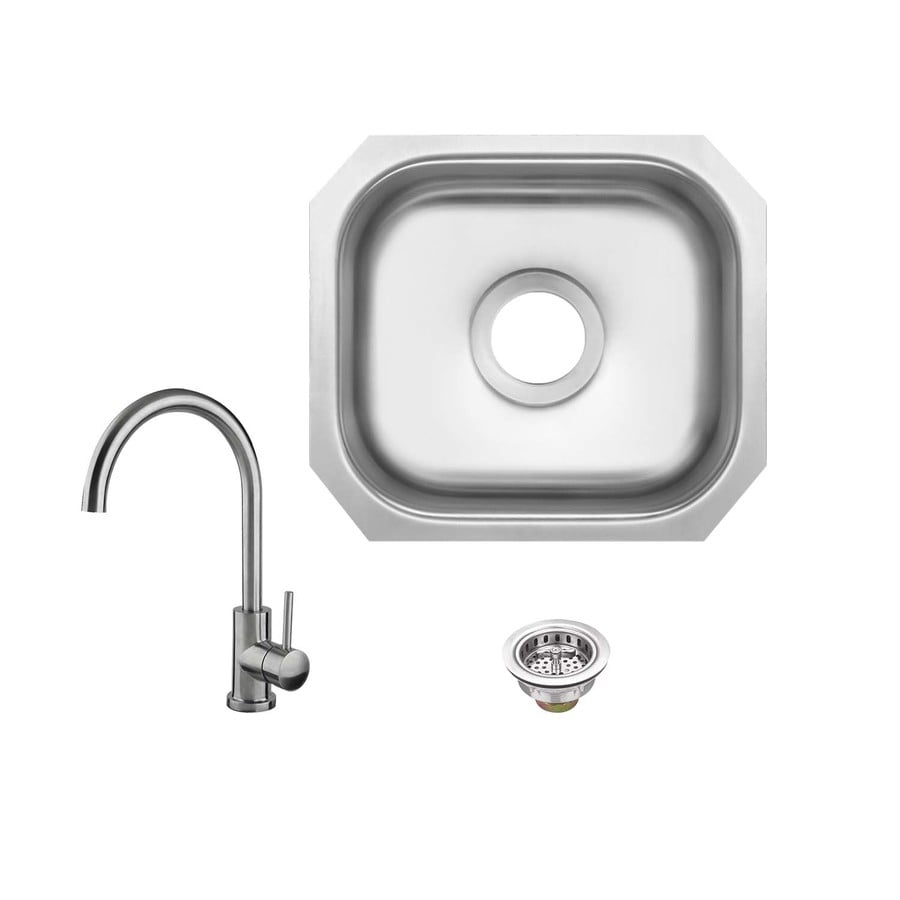Superior Sinks Brushed Satin Single Basin Stainless Steel Undermount  Residential Bar Sink