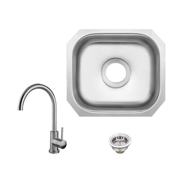 Superior Sinks Brushed Satin 1-Hole Stainless Steel