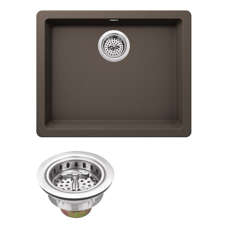 Superior Sinks 21.65-in x 16.92-in Mocha Brown Single-Basin Granite Drop-in Residential Kitchen Sink