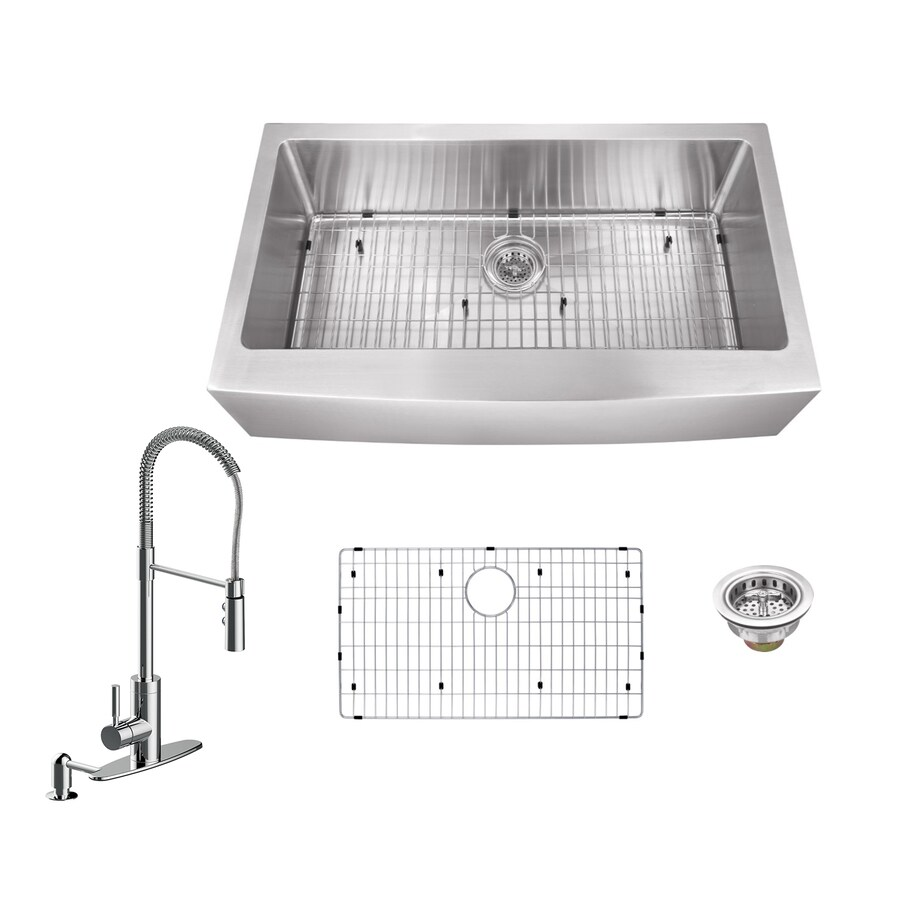 Superior Sinks 32.875-in X 20.75-in Brushed Satin Single