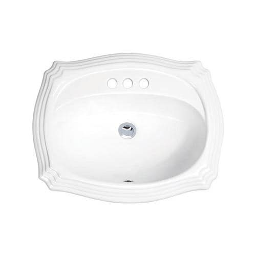 Superior Sinks White Glazed Porcelain Drop-In Oval ...