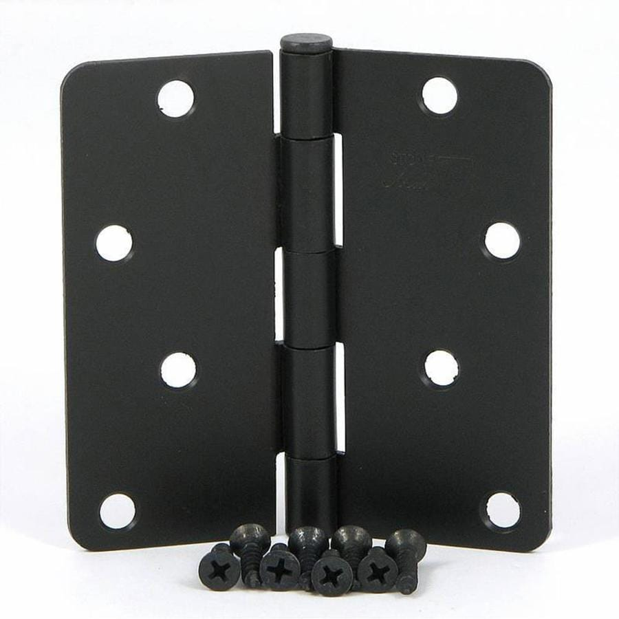 Stone Mill Hardware 2 Pack 4 In H Oil Rubbed Bronze 1 4 In Radius Interior Mortise Door Hinge At