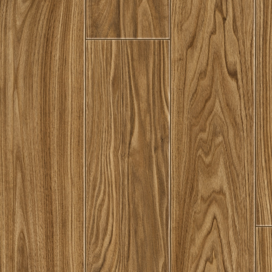 Shop kronotex amber select walnut wood planks laminate for Walnut laminate flooring