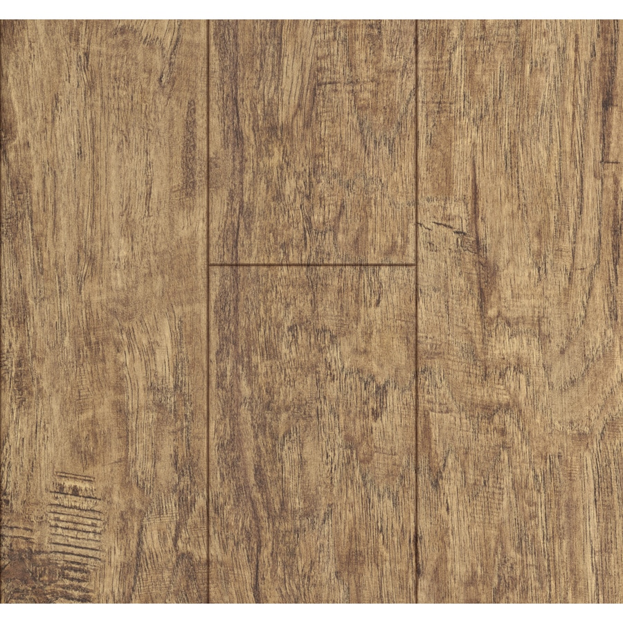 Style Selections 5 24 In W X 4 23 Ft L Rustic Hickory Wood Plank Laminate