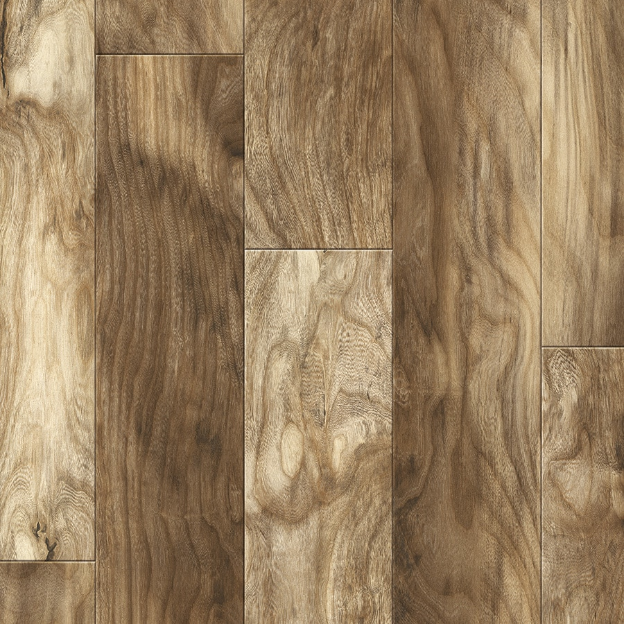 allen + roth 6.18-in W x 4.23-ft L Morganfield Hackberry Embossed Wood Plank Laminate Flooring