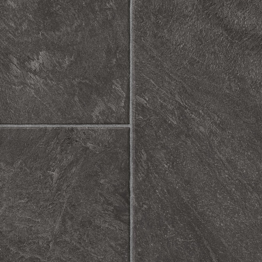 Style Selections Glentanner Slate 12 83 In W X 4 27 Ft L Embossed Tile Look