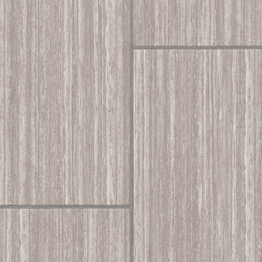Style Selections Gisbren Travertine 12 83 In W X 4 27 Ft L Embossed Tile Look