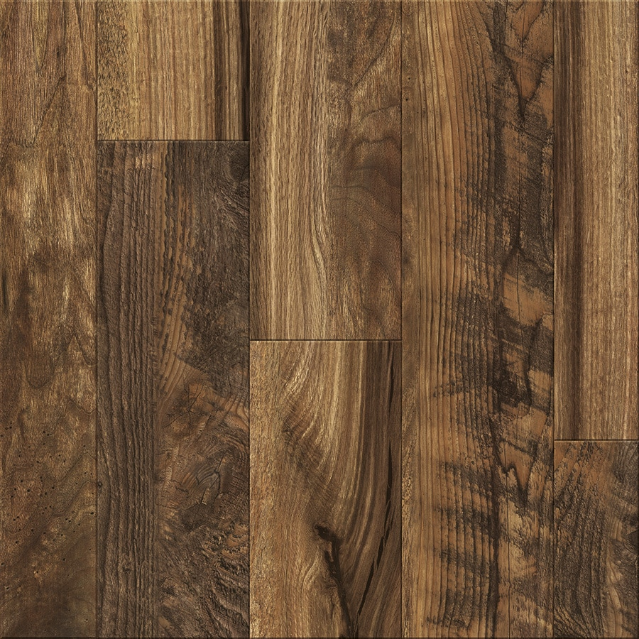 Shop Allen Roth Rescued Wood Medley Wood Planks Laminate