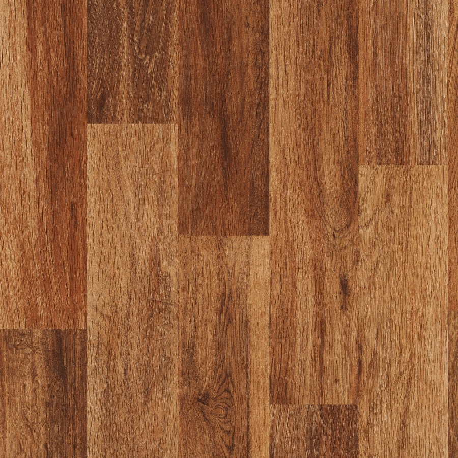 Style Selections 7.59-in W x 4.23-ft L Fireside Oak Embossed Wood Plank Laminate Flooring
