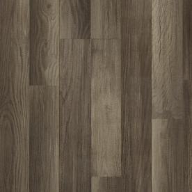 Style Selections Aged Gray Oak 7.59-in W x 4.23-ft L Smooth Wood Plank Laminate Flooring