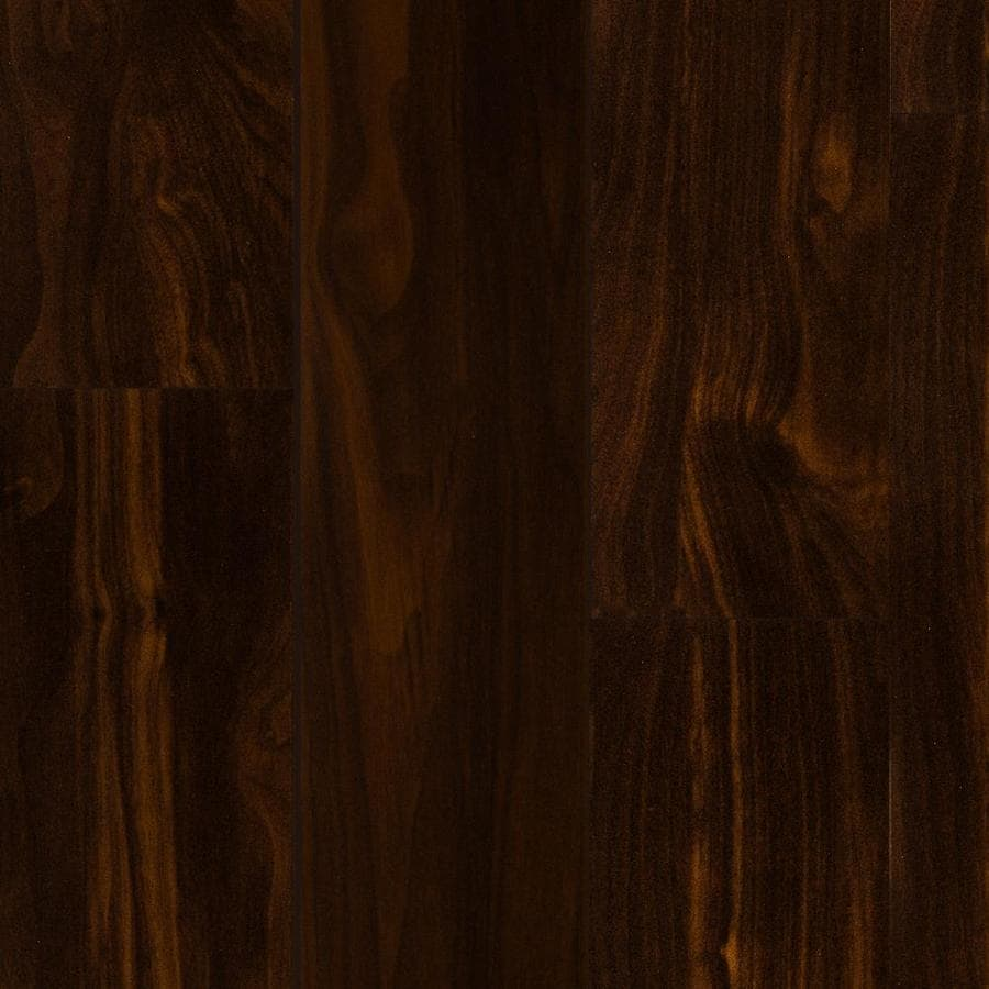 style selections 496in w x 423ft l dark walnut smooth wood plank