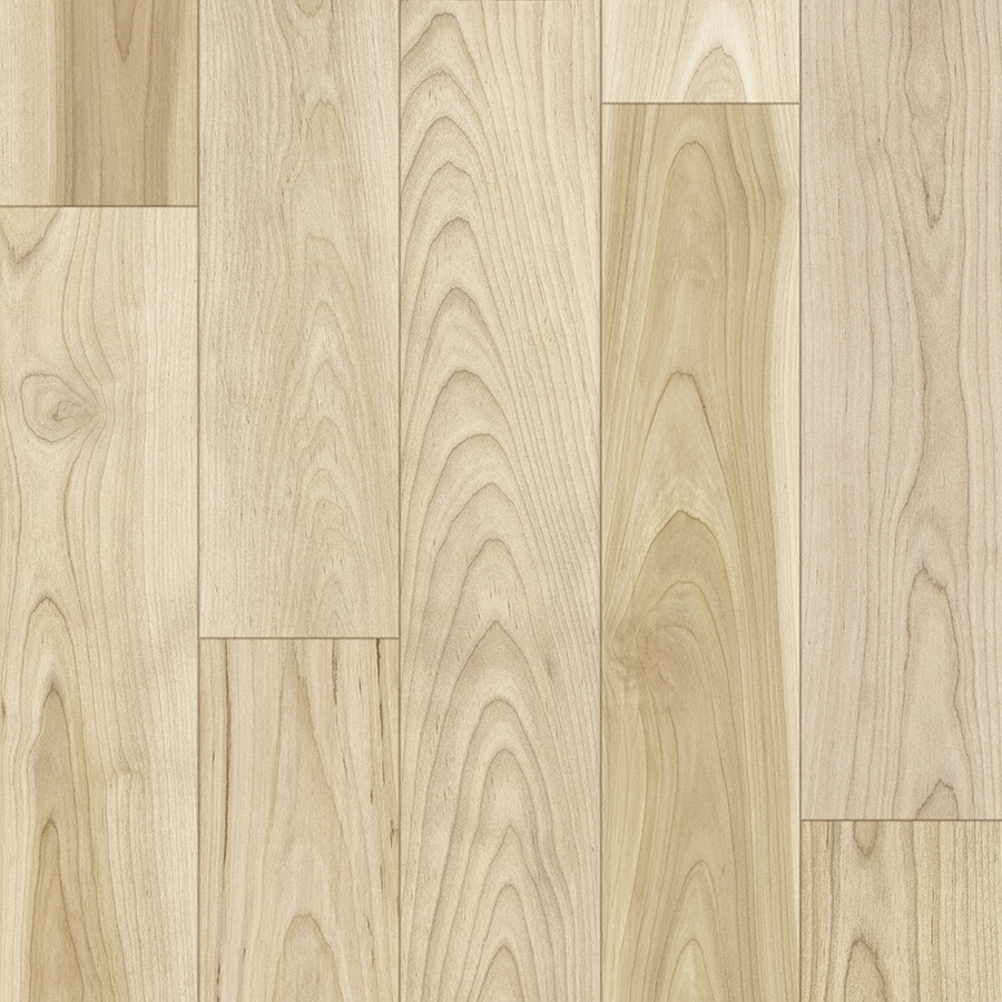 Style Selections 4 96 In W X 23 Ft L Natural Birch Wood Plank Laminate