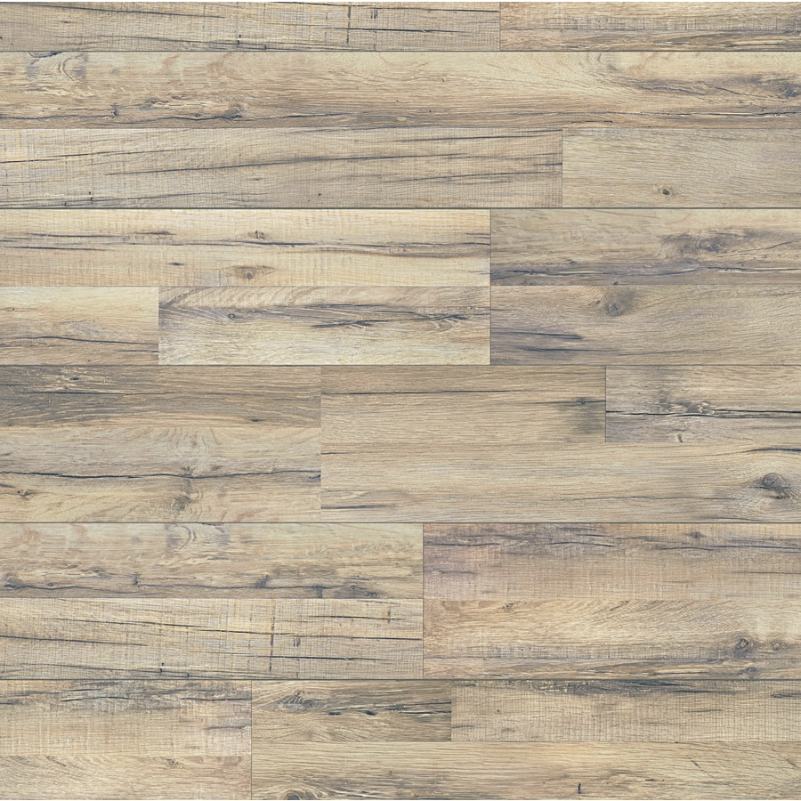 shop style selections tavern oak w x l embossed wood plank laminate flooring at. Black Bedroom Furniture Sets. Home Design Ideas