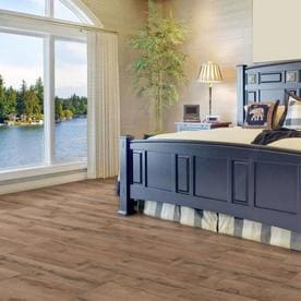 Style Selections Tavern Oak 7 59 In W X 4 23 Ft L Embossed