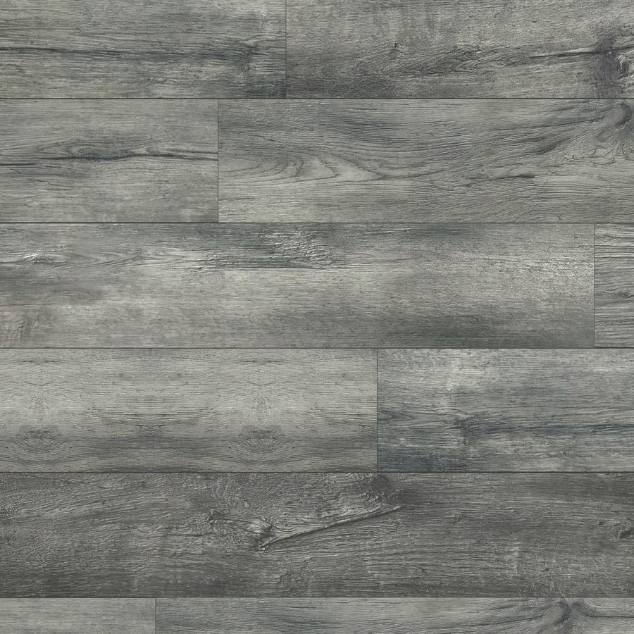 Allen Roth Lodge Oak 7 59 In W X 4 23 Ft L Embossed Wood Plank