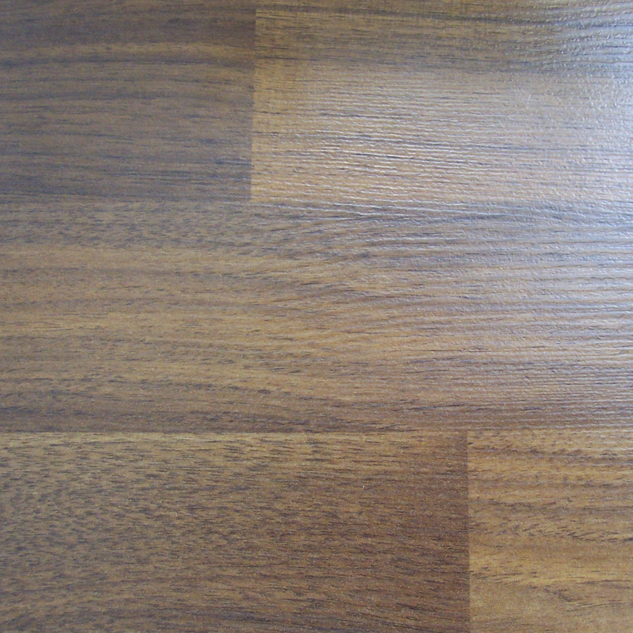 SwiftLock 7.4-in W x 4.23-ft L Walnut Embossed Laminate Wood Planks