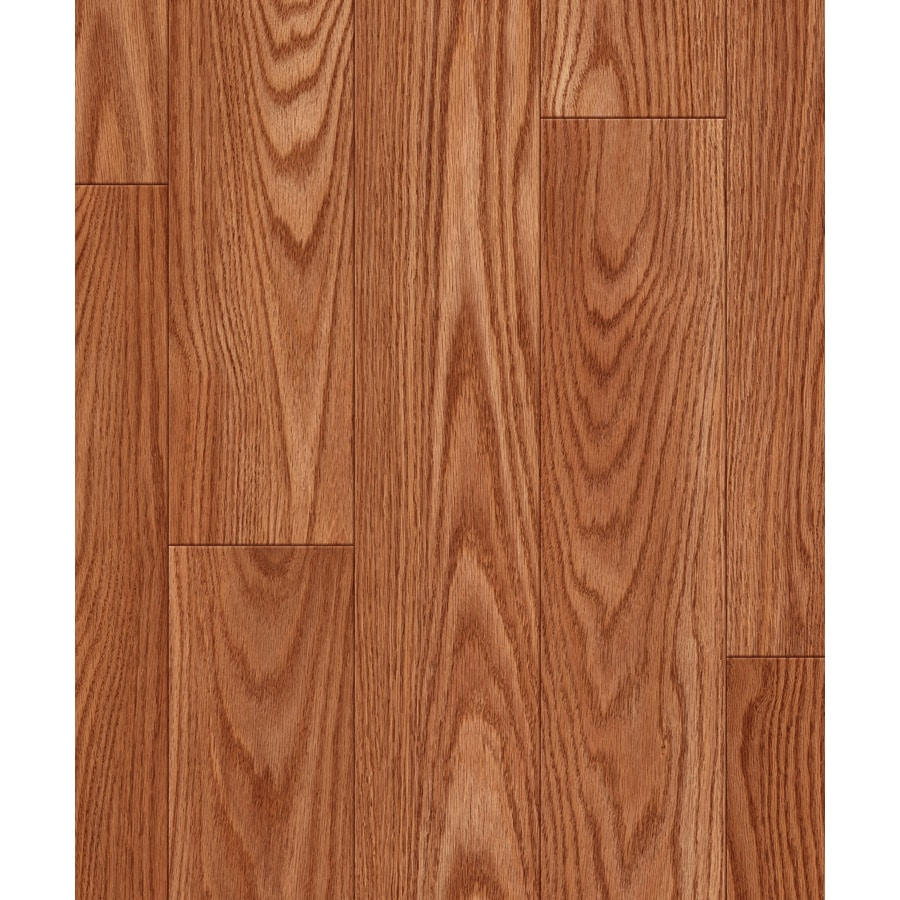 allen + roth 4.96-in W x 4.23-ft L Russet Oak Embossed Wood Plank Laminate Flooring