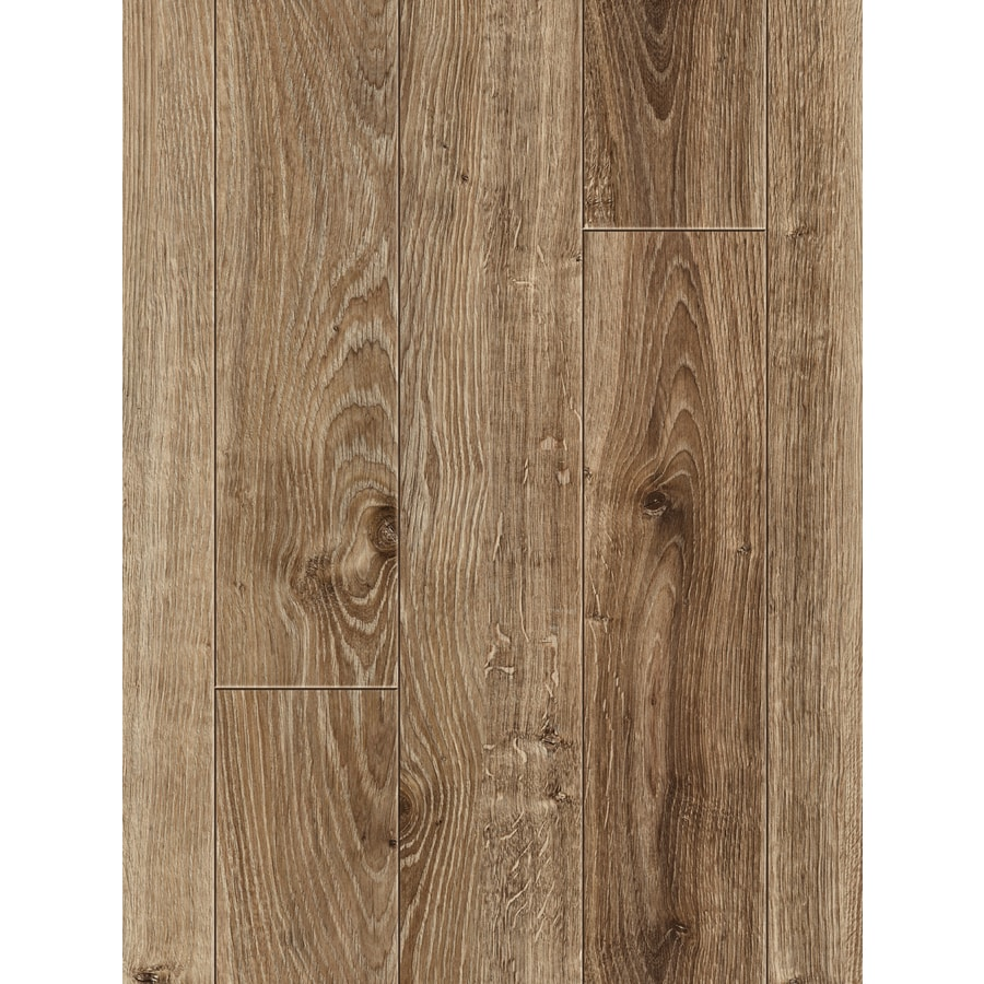 allen + roth 4.96-in W x 4.23-ft L Handscraped Driftwood Oak Handscraped Wood Plank Laminate Flooring