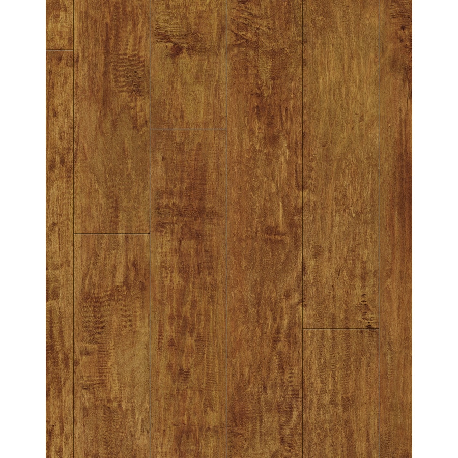 allen + roth Allen + Roth 4.96-in W x 4.23-ft L Handscraped Ginger Maple Wood Plank Laminate Flooring
