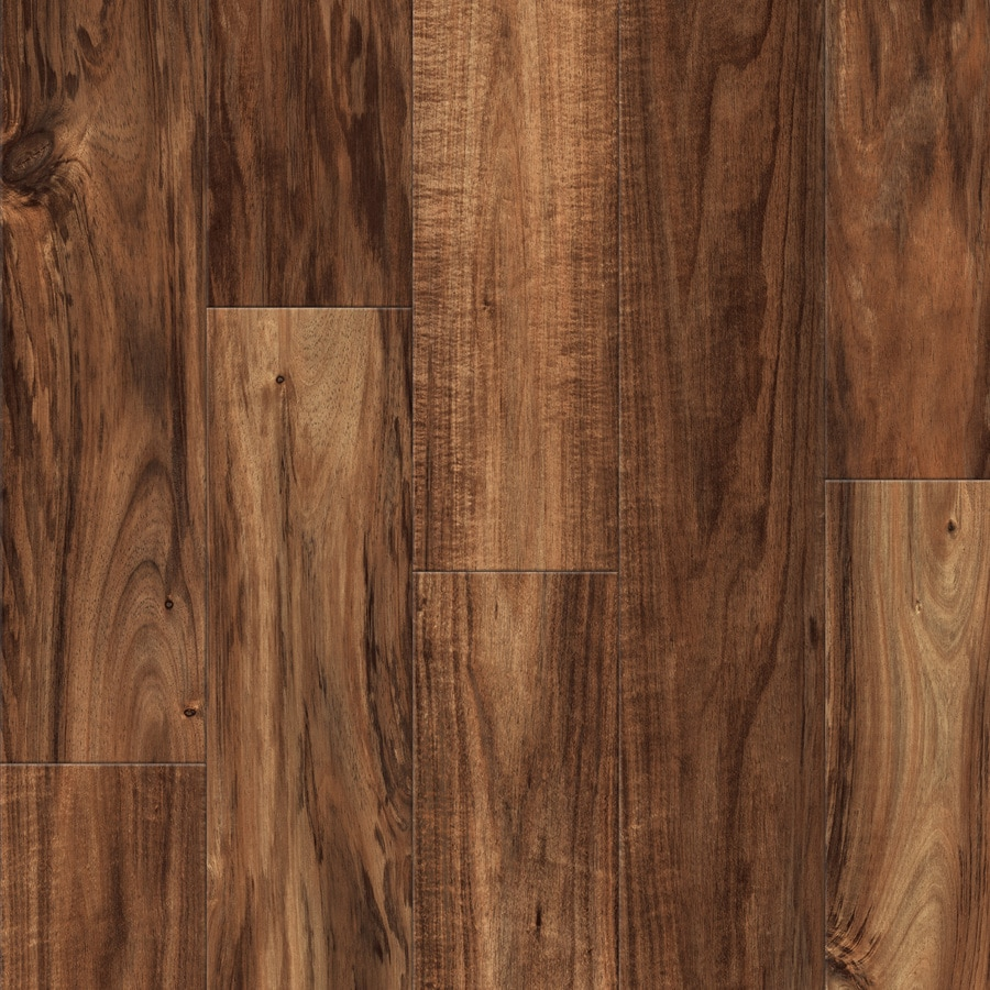 allen + roth 4.96-in W x 4.23-ft L Handscraped Natural Acacia Handscraped Wood Plank Laminate Flooring