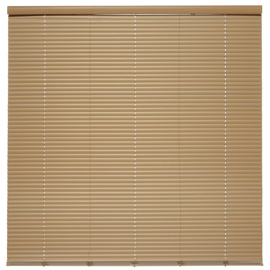 Style Selections 1-in Cordless Taupe Vinyl Room Darkening Mini-Blinds (Common 55.5-in; Actual: 55.5-in x 64-in)