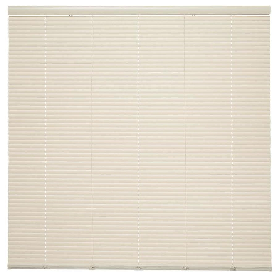 Style Selections 1-in Cordless Ivory Vinyl Room Darkening Mini-Blinds (Common 20.5-in; Actual: 20.5-in x 64-in)