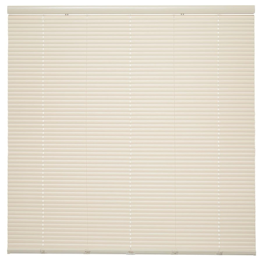 Style Selections 1-in Cordless Ivory Vinyl Room Darkening Mini-Blinds (Common 28.5-in; Actual: 28.5-in x 64-in)
