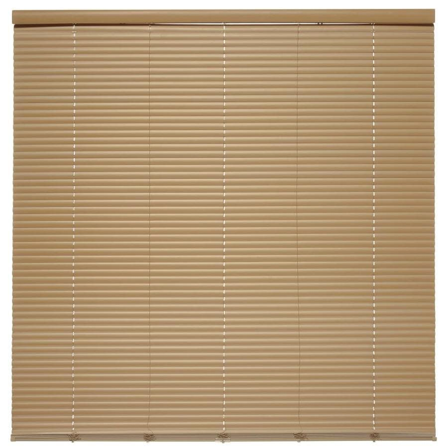 Style Selections 1-in Cordless Taupe Vinyl Room Darkening Mini-Blinds (Common 60-in; Actual: 60-in x 64-in)
