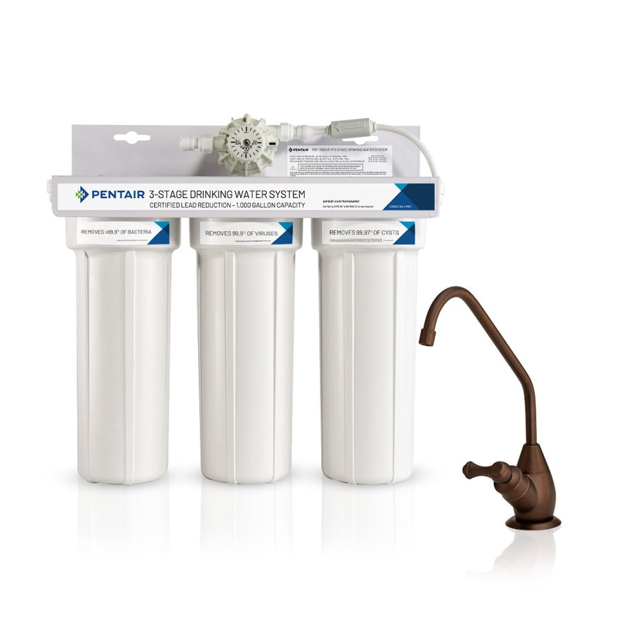 Pelican Water Purifier Triple Stage Carbon Block Under Sink Filtration System