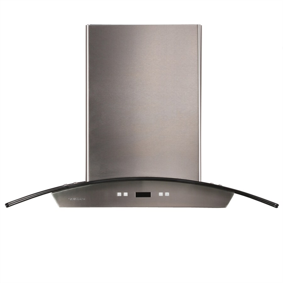 Cavaliere Convertible Island Range Hood (Stainless Steel) (Common: 36-in; Actual: 35.5-in)