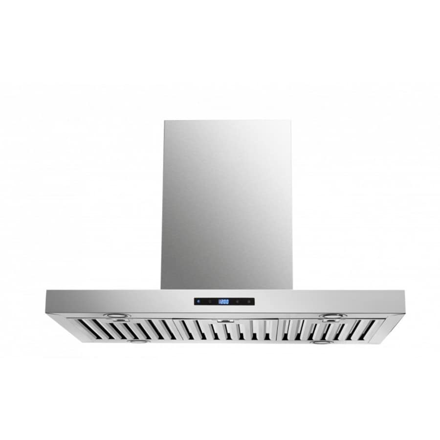 Cavaliere Ducted Island Range Hood (Stainless Steel) (Common: 36-in; Actual: 35.5-in)