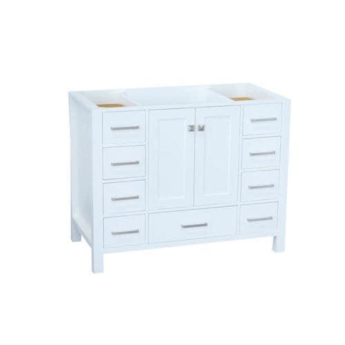 ARIEL Cambridge 42-in White Bathroom Vanity Cabinet in the ...