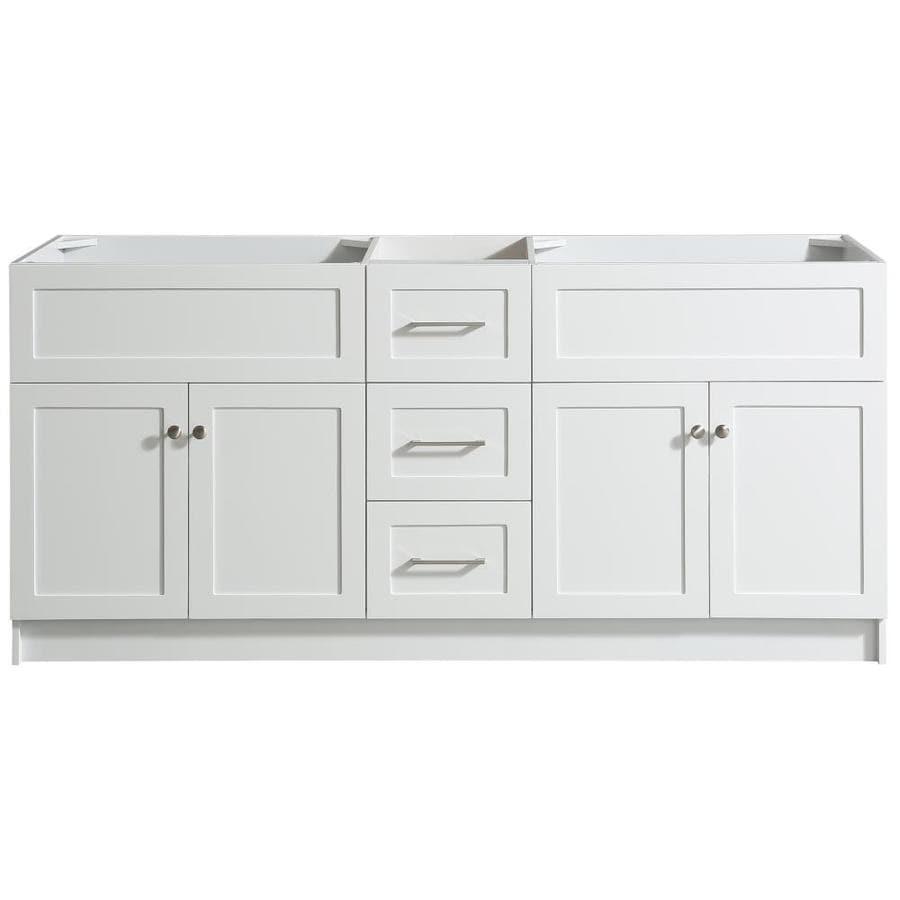 ARIEL Hamlet 72-in White Bathroom Vanity Cabinet at Lowes.com