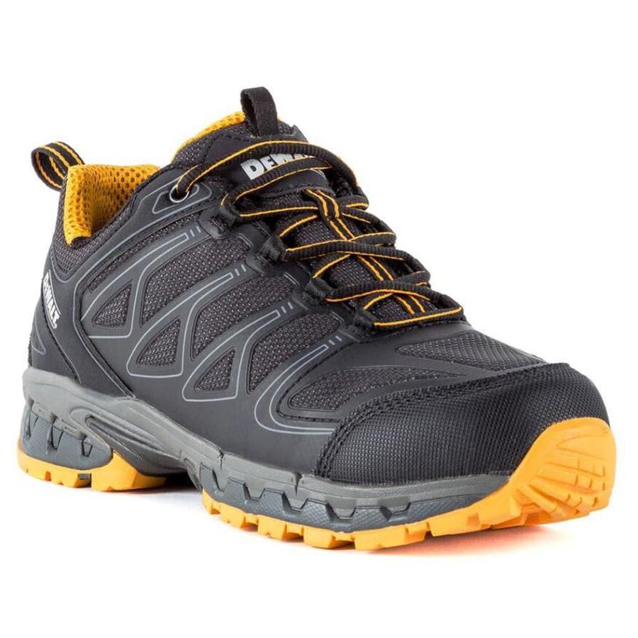 d18dcc541f8 DEWALT Boron Black/Yellow Size 11 Mens Steel Toe Low Top Work Shoes ...