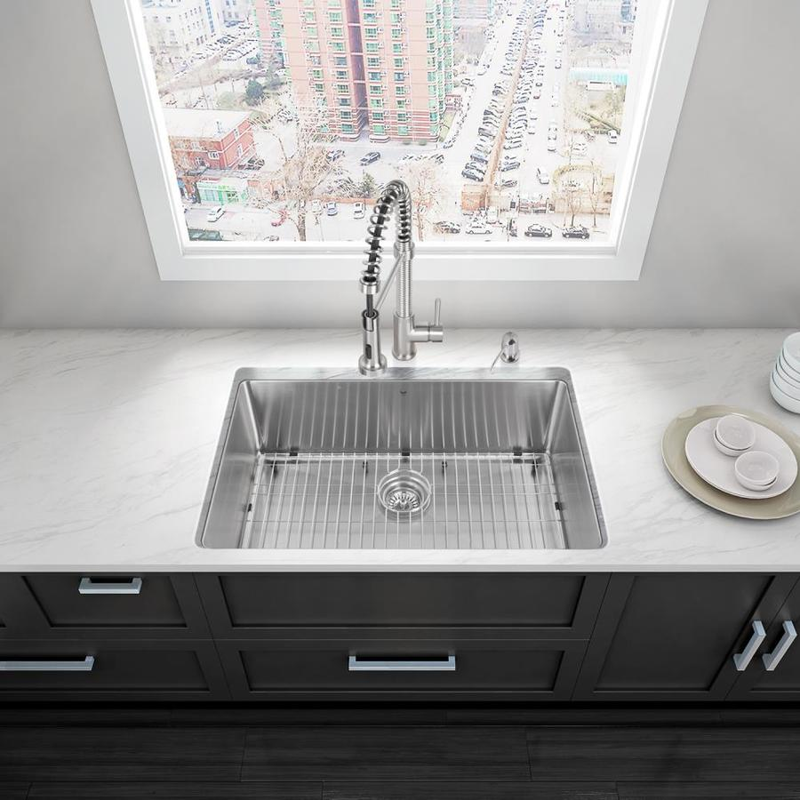 Grades Of Stainless Steel Sinks : VIGO 32-in x 19-in Stainless Steel Single-Basin Undermount Commercial ...
