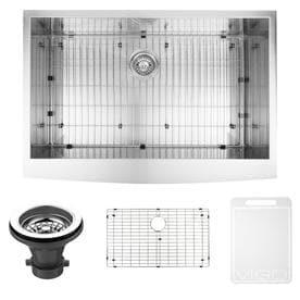 vigo 2225 in x 36 in stainless steel single basin standard drop - Farmhouse Kitchen Sink