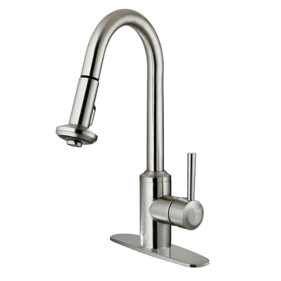 shop vigo astor stainless steel 1 handle pull deck