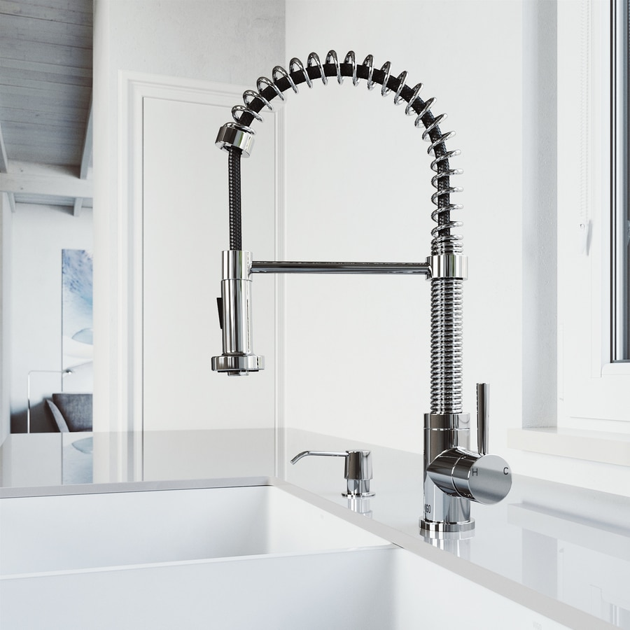 VIGO Chrome 1-Handle Pre-Rinse Kitchen Faucet