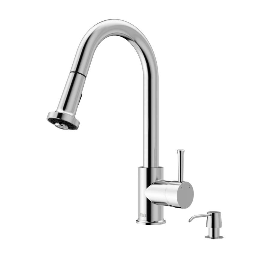 VIGO Harrison Chrome 1-Handle Deck Mount Pull-Down Kitchen Faucet