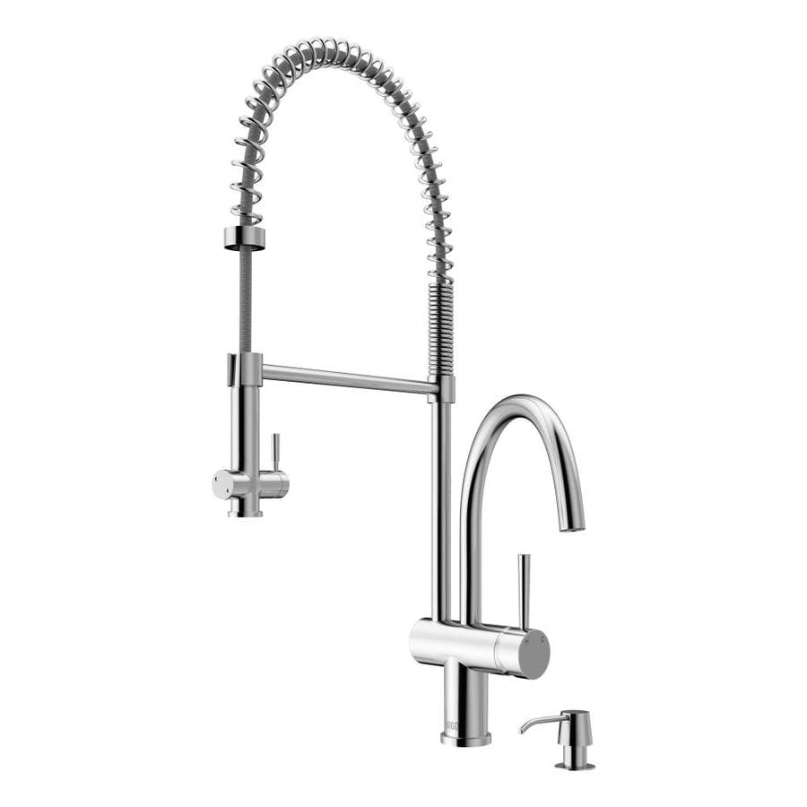 VIGO Dresden Chrome 1-Handle Deck Mount Pull-Down Kitchen Faucet