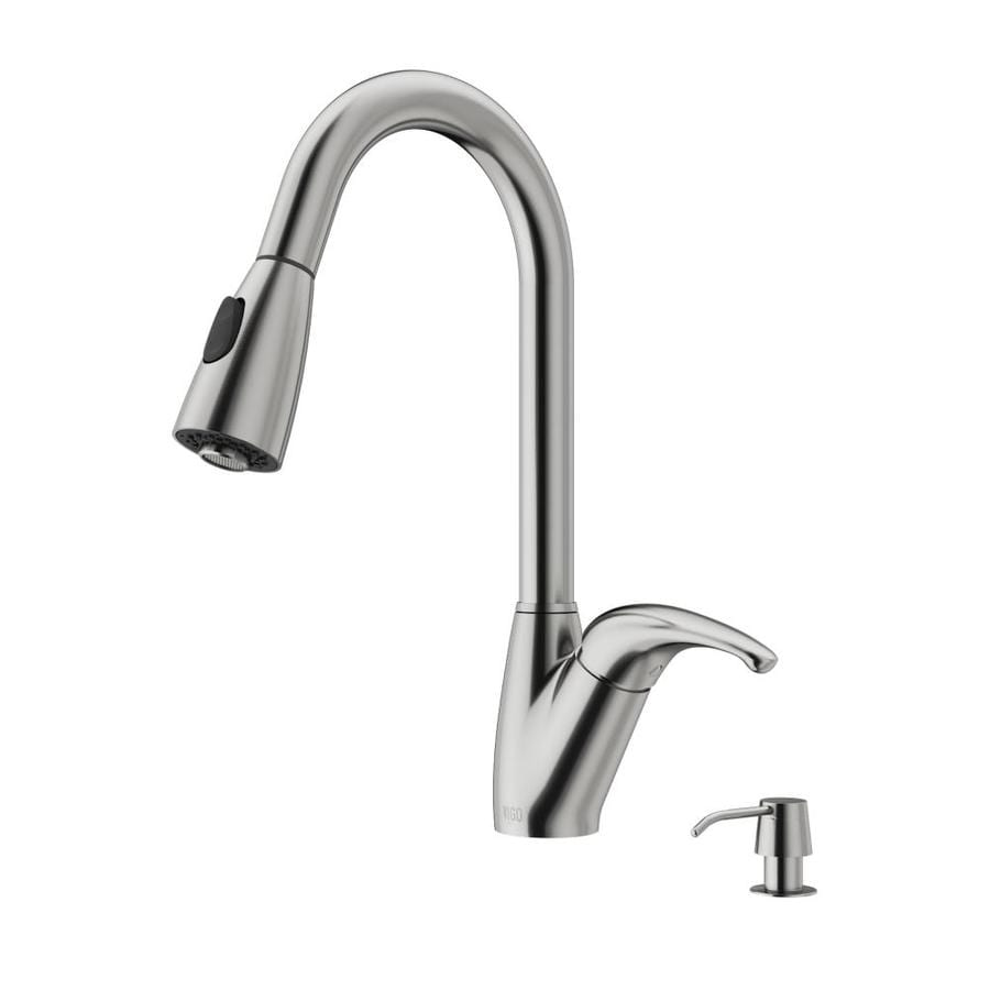 VIGO Stainless Steel 1-Handle Pull-Out Kitchen Faucet