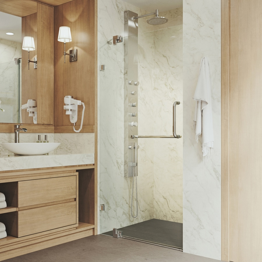 Shop Vigo Pirouette 30 In To 36 In W Chrome Hinged Shower