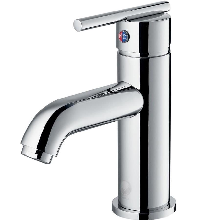 VIGO Setai Chrome 1-Handle Single Hole WaterSense Bathroom Faucet
