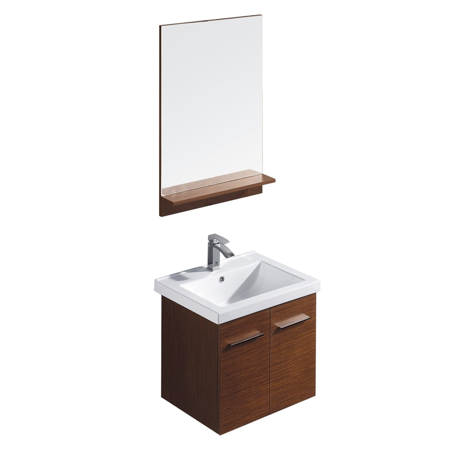 bathroom vanities single sink shop vigo wenge drop in single sink bathroom vanity with 16949