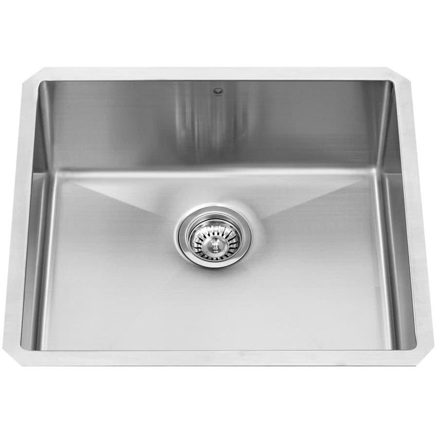 VIGO 21-in x 18-in Stainless Steel Single-Basin Stainless Steel Undermount Commercial/Residential Kitchen Sink