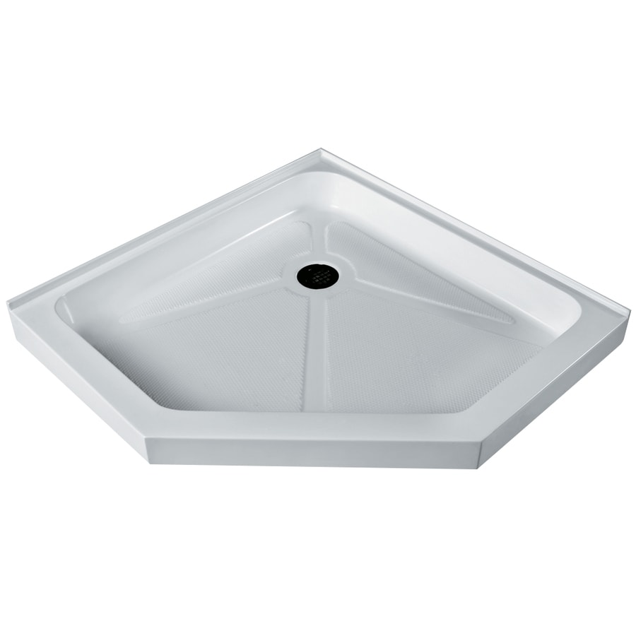 VIGO Shower Tray White Acrylic Shower Base (Common: 36-in W x 36-in L; Actual: 36.125-in W x 36.125-in L)