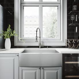 vigo 300 in x 2225 in single basin stainless steel apron front - Apron Kitchen Sinks